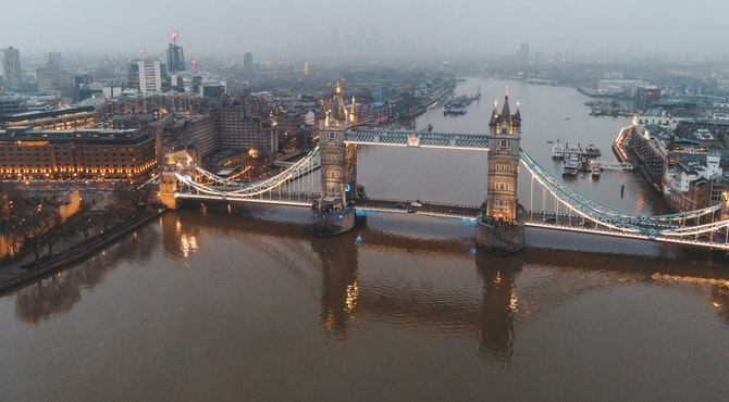 Londonski most iz ptičije perspektive